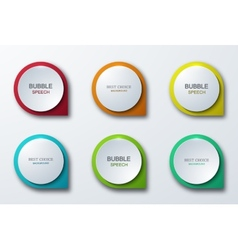 modern colorful bubble speech icons set vector image