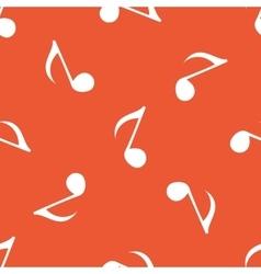 Orange 8th note pattern vector