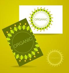organic logo vector image