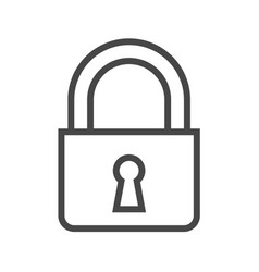 padlock thin line icon vector image