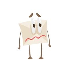 Quivering lips humanized letter paper envelop vector