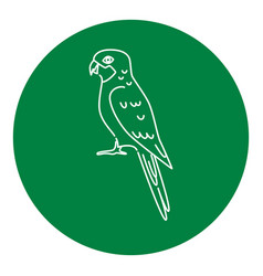 Rosella parrot icon in thin line style vector