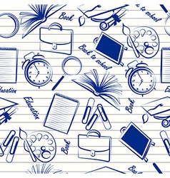 School items seamless vector image