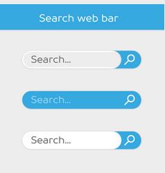 search bar design element vector image