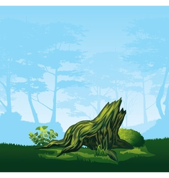 Stump with a curved crown vector