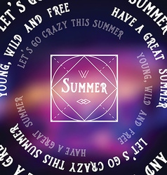 Summer futuristic background abstract banner vector