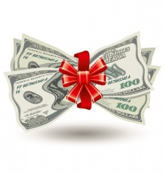 thick bundle of dollars vector image vector image