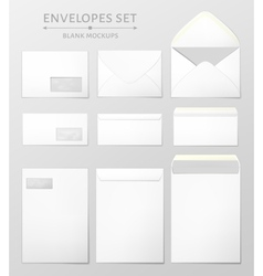 Three envelopes set vector image