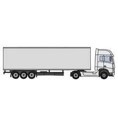 White long semitrailer vector image vector image