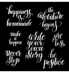 write your own story handwritten positive vector image vector image