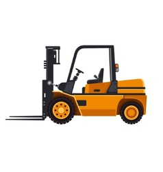 Yellow forklift loader truck isolated on white vector