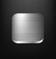 Metal app icon vector