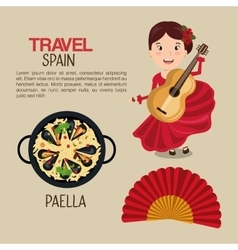Spanish culture icons isolated icon design vector