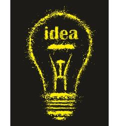 bright Idea Light Bulb vector image