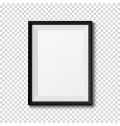 Black frame isolated on transparent background vector