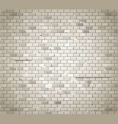 Old dirty brick wall background vector