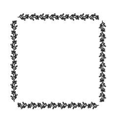decorative square frame floral vector image
