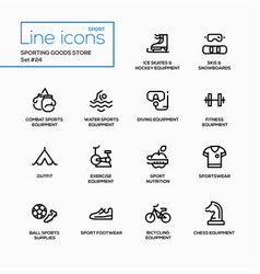 Sporting goods store - modern single line vector
