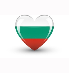 Heart-shaped icon with national flag of bulgaria vector