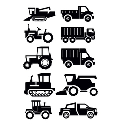 agricultural transport vector image