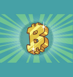 Bitcoin cryptocurrency icon symbol sign vector