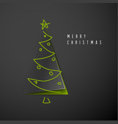 Minimalistic merry christmas card vector