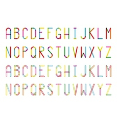 Colorful alphabets vector