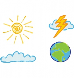 Shiny weather icons vector