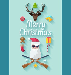 Funny Christmas poster vector image
