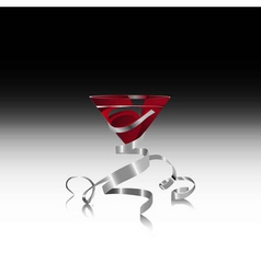 Red martini vector
