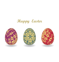 Easter card with egg vector