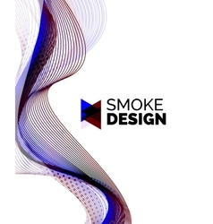 Color smoke wave on white - design element vector