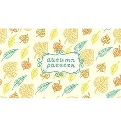Leaves autumn pattern in retro style it contains vector