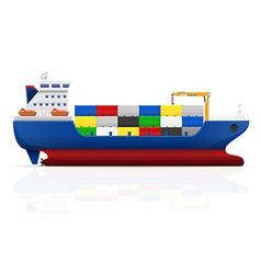 cargo ship 02 vector image