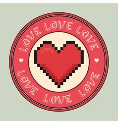 I love you colorful graphic design vector