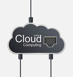 Cloud computing concept technology background vector