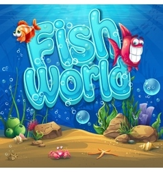 Underwater world with fish vector