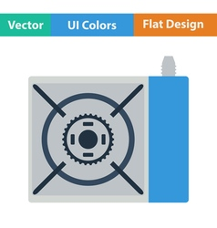 Icon of camping gas burner stove vector