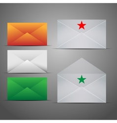 Mail Marketing Icon Set vector image
