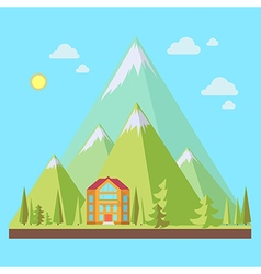 Mountain resort vector