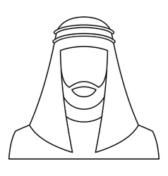 Arabic man icon outline style vector