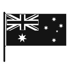 Australian flag icon simple style vector