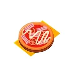 Bacon Tomato Pizza vector image
