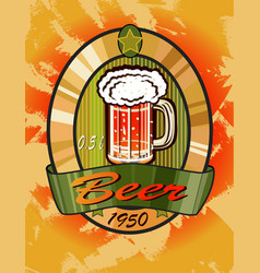 banners on topic with beer vector image vector image