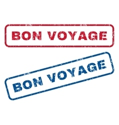 Bon voyage rubber stamps vector