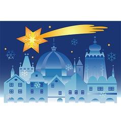 Christmas town bethlehem star vector