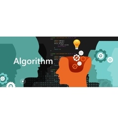 Computer algorithm science problem solving process vector