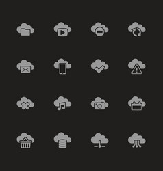 Computing cloud - flat icons vector