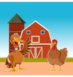 Farm animals on the background vector image vector image