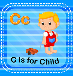 Flashcard letter c is for child vector